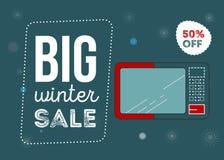 Cartel grande de la venta del invierno stock de ilustración