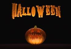 Cartel horizontal de Halloween Foto de archivo