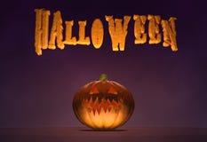 Cartel horizontal de Halloween Imagen de archivo libre de regalías