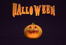 Cartel horizontal de Halloween Fotografía de archivo libre de regalías