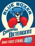 Cartel ilustrado de un perro del boxeador stock de ilustración