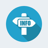 Cartel info icon Stock Photo