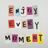 Cartel inspirado del diseño de la cita de la vida Fotos de archivo
