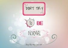 Cartel inspirado y de motivación de las citas stock de ilustración