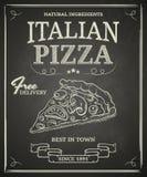 Cartel italiano de la pizza Imágenes de archivo libres de regalías