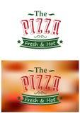 Cartel italiano de la pizza Foto de archivo