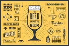 Cartel a la cerveza o no a la cerveza ilustración del vector