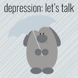 Cartel a la depresión del día de la salud Foto de archivo libre de regalías