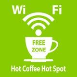 Cartel libre del cybercafe del wifi ilustración del vector