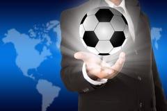 Cartel ligero del fútbol Fotografía de archivo libre de regalías