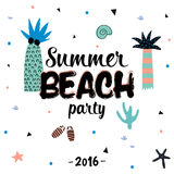 Cartel lindo del verano del hola ilustración del vector