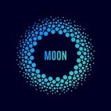 Cartel Luna del vector halftone Fotos de archivo libres de regalías