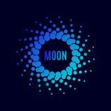Cartel Luna del vector halftone Foto de archivo