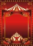 Cartel mágico rojo del circo Fotografía de archivo libre de regalías