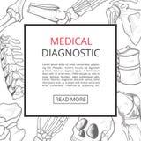 Cartel médico de la bandera Fotos de archivo libres de regalías