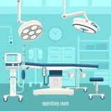 Cartel médico del diseño de la sala de operaciones Imagen de archivo libre de regalías