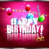 Cartel moderno del cumpleaños Foto de archivo libre de regalías