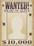 Cartel muerto o vivo querido Foto de archivo