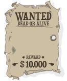 Cartel muerto o vivo querido + vector Imagen de archivo