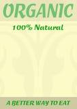Cartel natural del alimento biológico Imagen de archivo