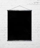 Cartel negro Foto de archivo libre de regalías