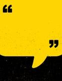 Cartel negro y amarillo de la cita del grunge Imágenes de archivo libres de regalías