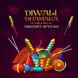 Cartel o bandera de la venta de Diwali