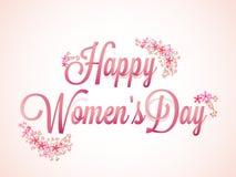 Cartel o bandera para el día de las mujeres Fotografía de archivo libre de regalías