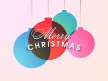 Cartel o bandera para las celebraciones de la Feliz Navidad Fotografía de archivo libre de regalías