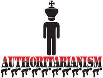 Cartel para el autoritarismo ilustración del vector