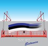 Cartel para el día de la bandera Estonia libre illustration
