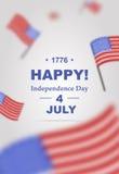 Cartel para el Día de la Independencia el 4 de julio Imagen de archivo libre de regalías