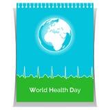 Cartel para el día de salud de mundo Fotografía de archivo
