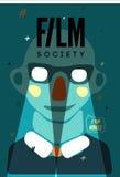 Cartel para la sociedad de la película Ilustración del vector Imágenes de archivo libres de regalías
