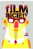 Cartel para la sociedad de la película Ilustración del vector Fotos de archivo libres de regalías