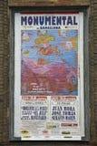 Cartel pasado de la corrida imagenes de archivo