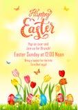 Cartel Pascua de la pintura de los huevos ilustración del vector