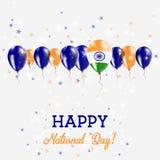 Cartel patriótico chispeante del Día de la Independencia de la India Imagenes de archivo