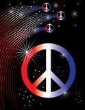 Cartel patriótico de la paz Fotografía de archivo libre de regalías