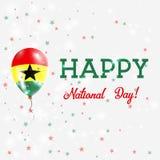 Cartel patriótico del día nacional de Ghana stock de ilustración
