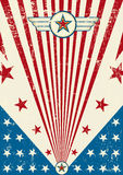 Cartel patriótico del rasguño Imagen de archivo libre de regalías