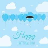 Cartel patriótico plano del día nacional de Botswana Fotografía de archivo libre de regalías
