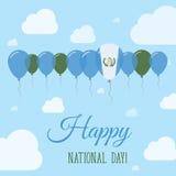 Cartel patriótico plano del día nacional de Guatemala Fotografía de archivo libre de regalías