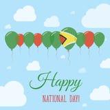 Cartel patriótico plano del día nacional de Guyana Fotografía de archivo