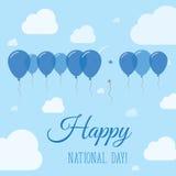 Cartel patriótico plano del día nacional de Honduras Imagenes de archivo