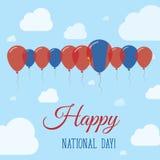 Cartel patriótico plano del día nacional de Mongolia Imágenes de archivo libres de regalías