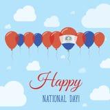 Cartel patriótico plano del día nacional de Paraguay Fotos de archivo