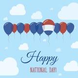Cartel patriótico plano holandés del día nacional Imagen de archivo libre de regalías