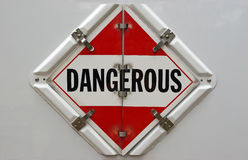Cartel peligroso foto de archivo libre de regalías