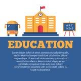 Cartel plano de la educación libre illustration